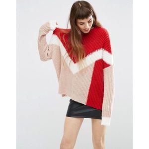 ASOS - Chevron Color Block Chunky Sweater